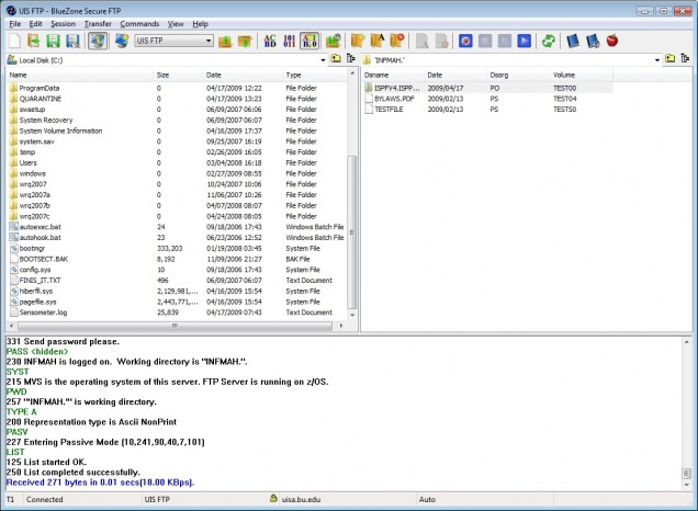 BlueZone FTP : TechWeb : Boston University