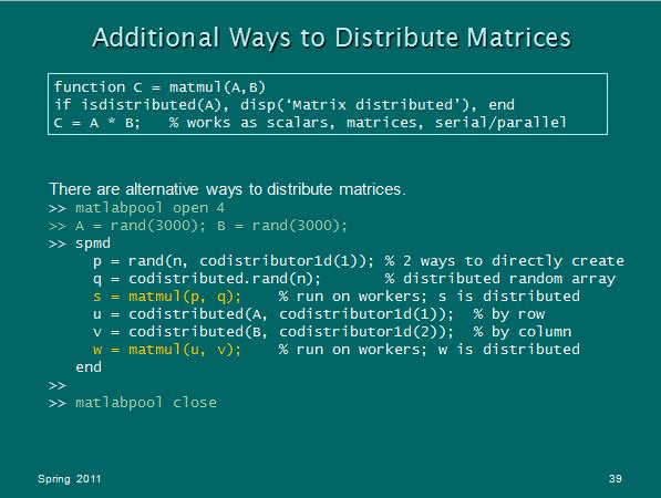 Working With Distributed Arrays : TechWeb : Boston University