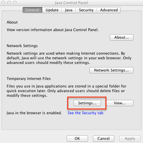 Clear Java cache – Mac OS X : TechWeb : Boston University