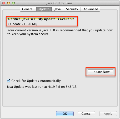 Java Settings – Mac OS X : TechWeb : Boston University
