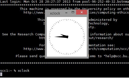 Get Started – Connect GUI (X Forwarding) : TechWeb : Boston University