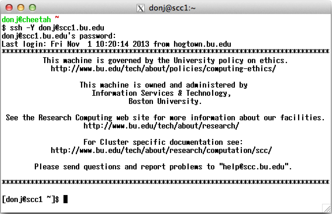 Get Started – Connect GUI (X Forwarding) : TechWeb : Boston University