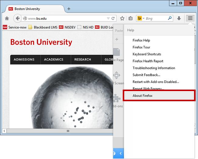 Update Your Web Browser – Windows : TechWeb : Boston University