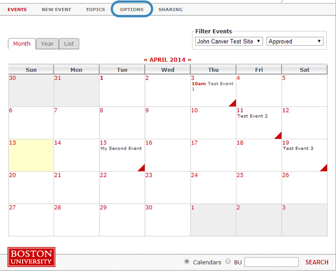 using the bu calendar application techweb boston university