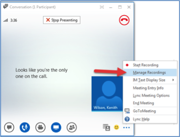 how to share screen on lync
