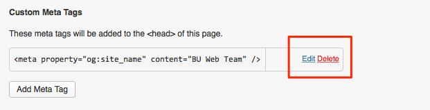 Add Custom Meta Tags : TechWeb : Boston University