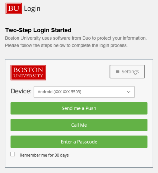 Two-Factor VPN : TechWeb : Boston University