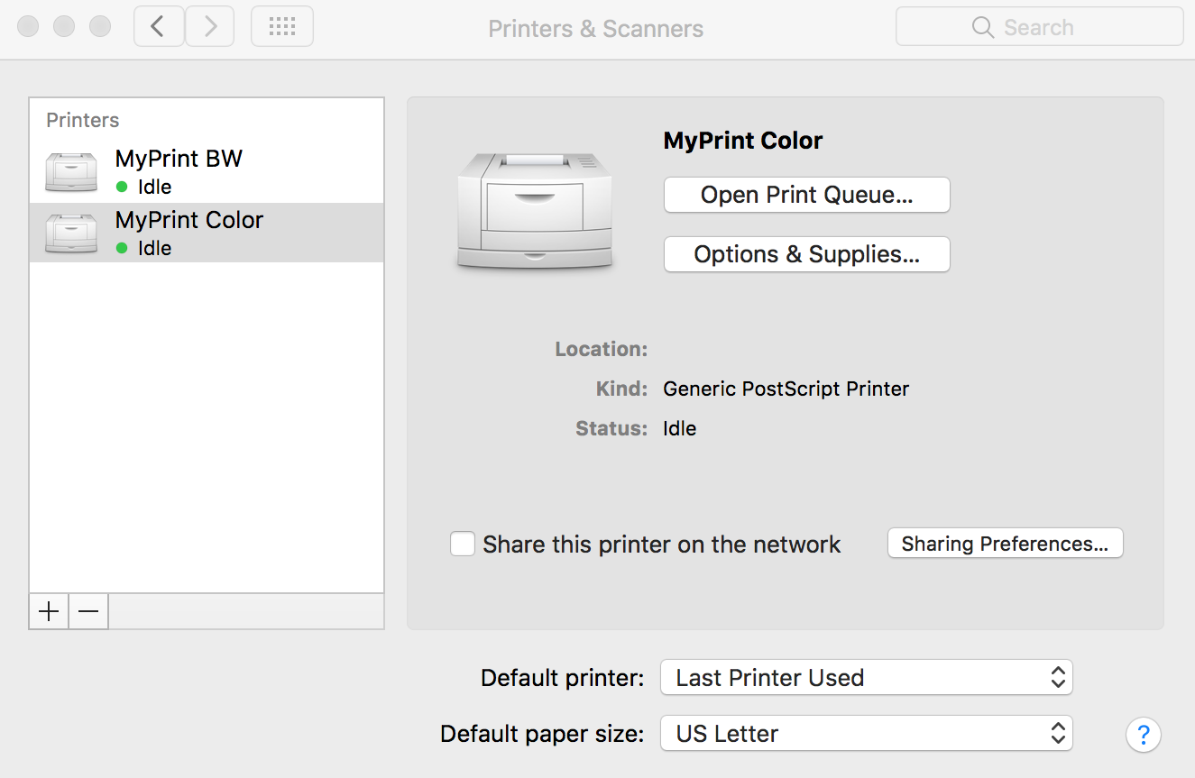 Color printing bu - Myprint Icons For Mac2