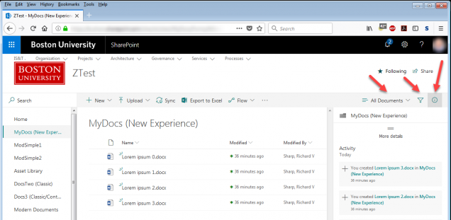 New (a k a  Modern) and Classic Experiences in SharePoint