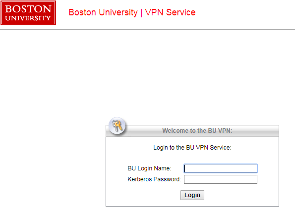 Using the VPN : TechWeb : Boston University