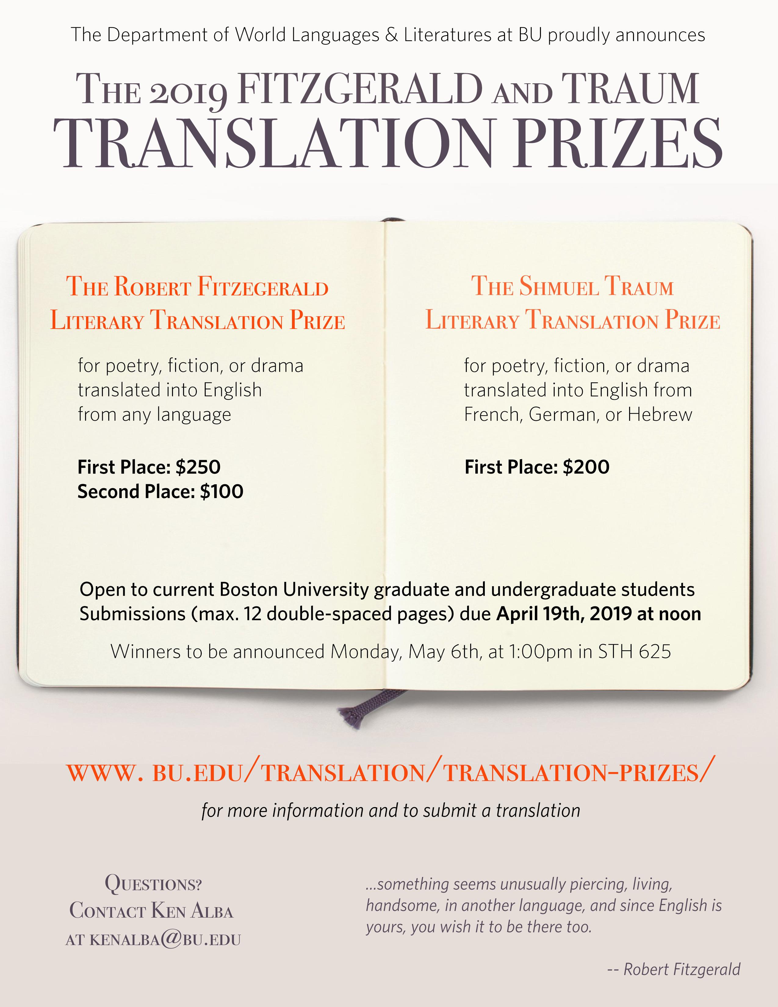 Translation Prizes » Translation Seminar » Boston University