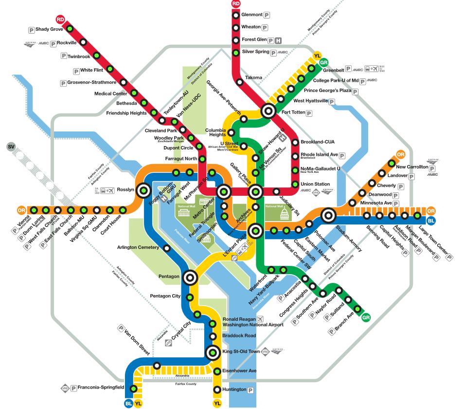 wmata map Washington DC Blog Archive Boston University