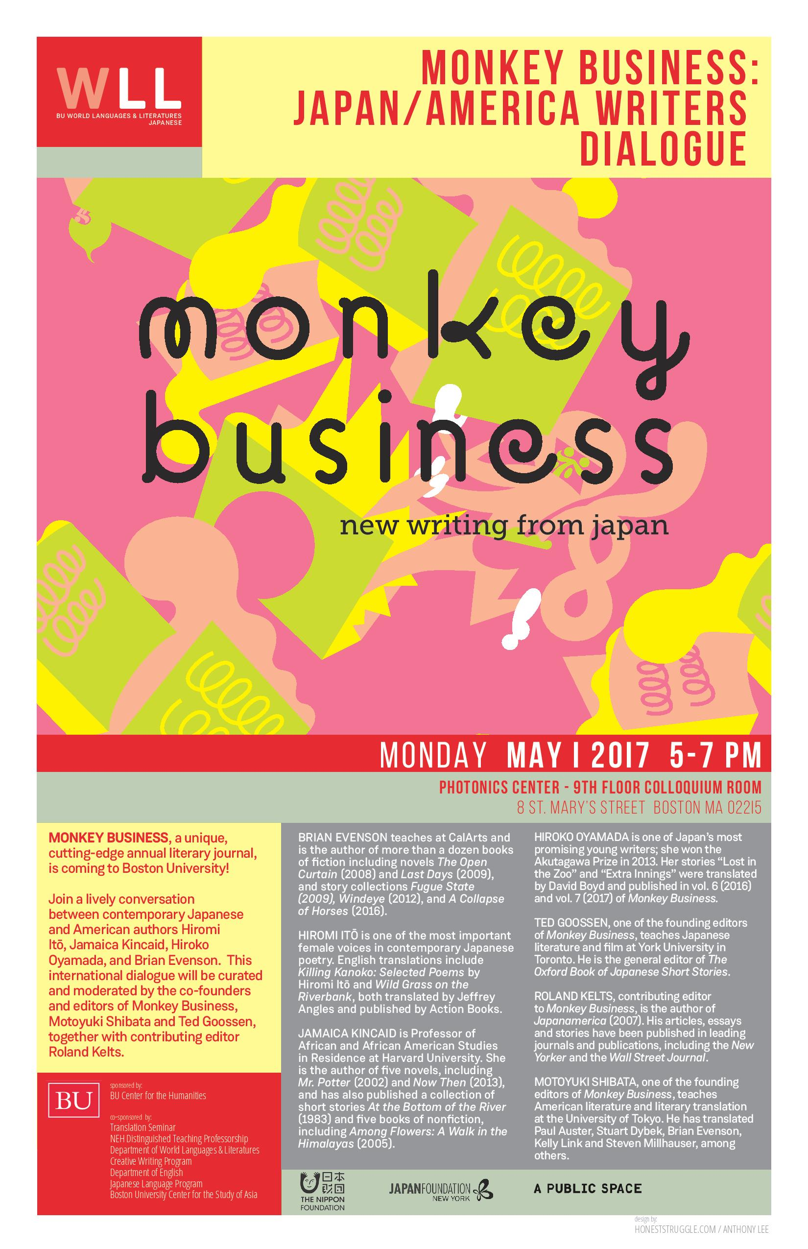 5/1/2017 Monkey Business: Japan/America Writers Dialogue | World