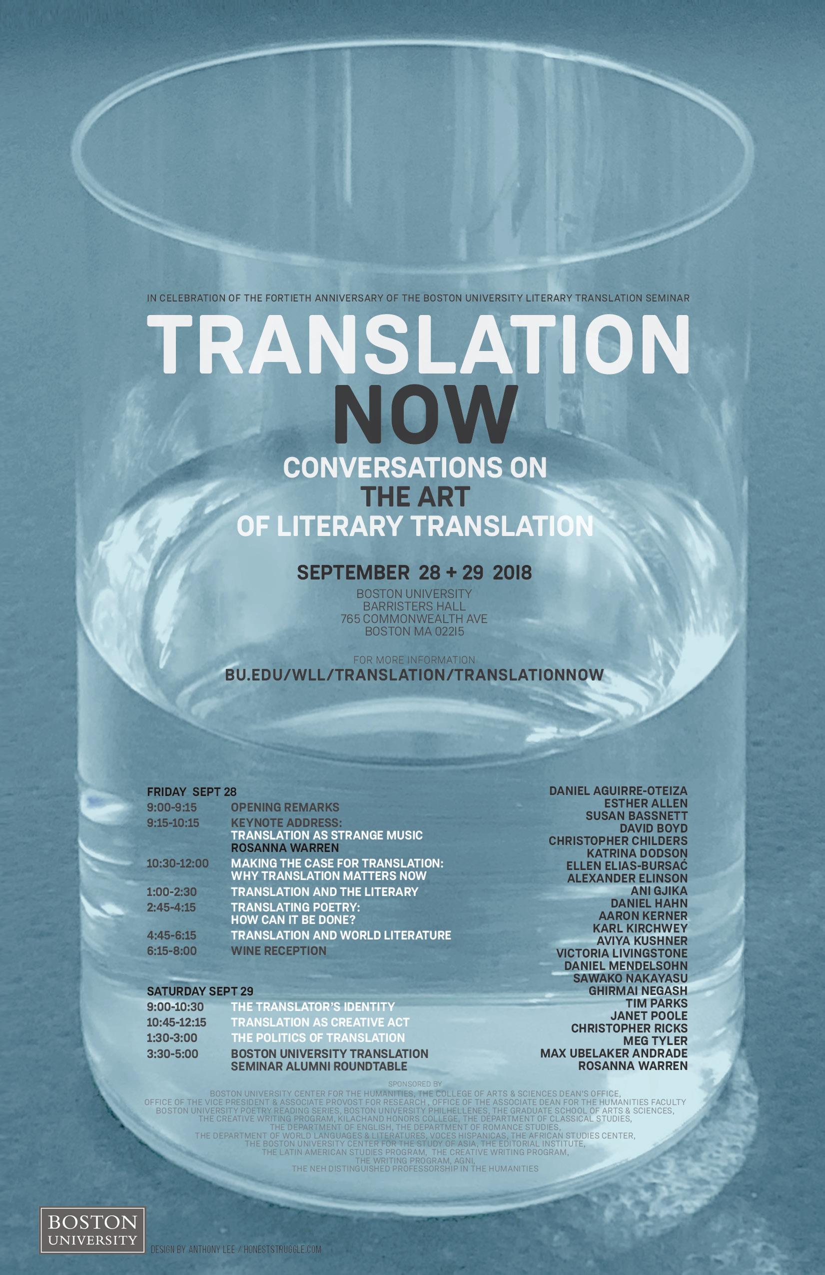 Conversations on the Art of Literary Translation