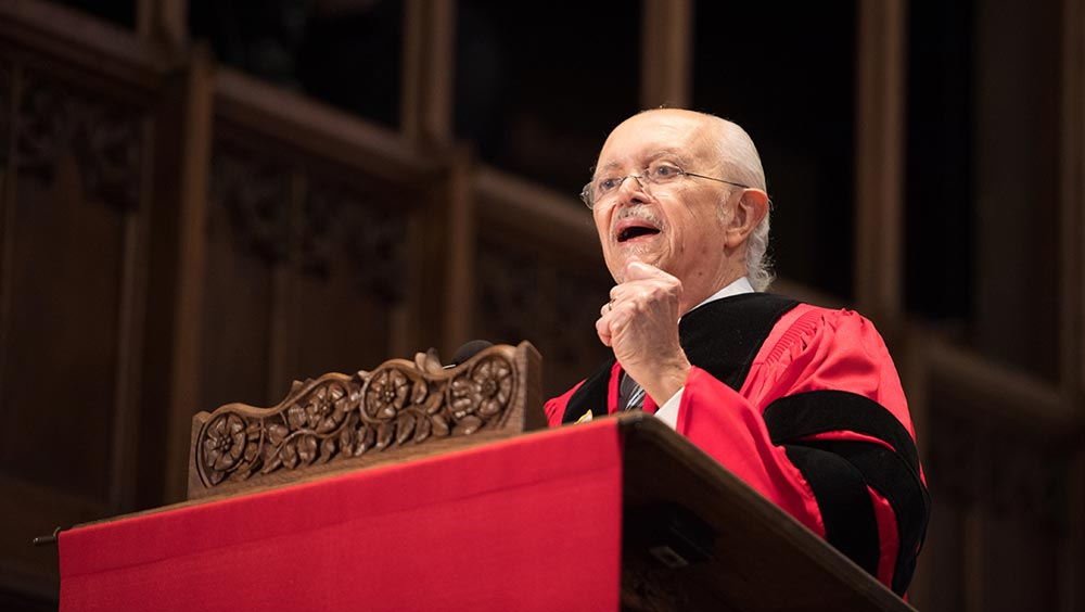 Do Your Future Work with Passion, Nobel Laureate Tells Graduating University Seniors